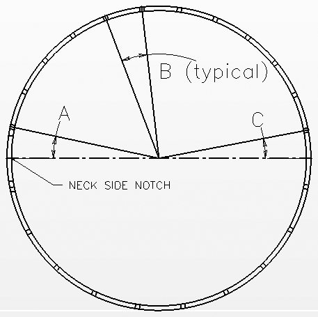 Need Angles For Standard 24 Notch Spacing