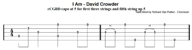 David crowder tab - Discussion Forums - Banjo Hangout