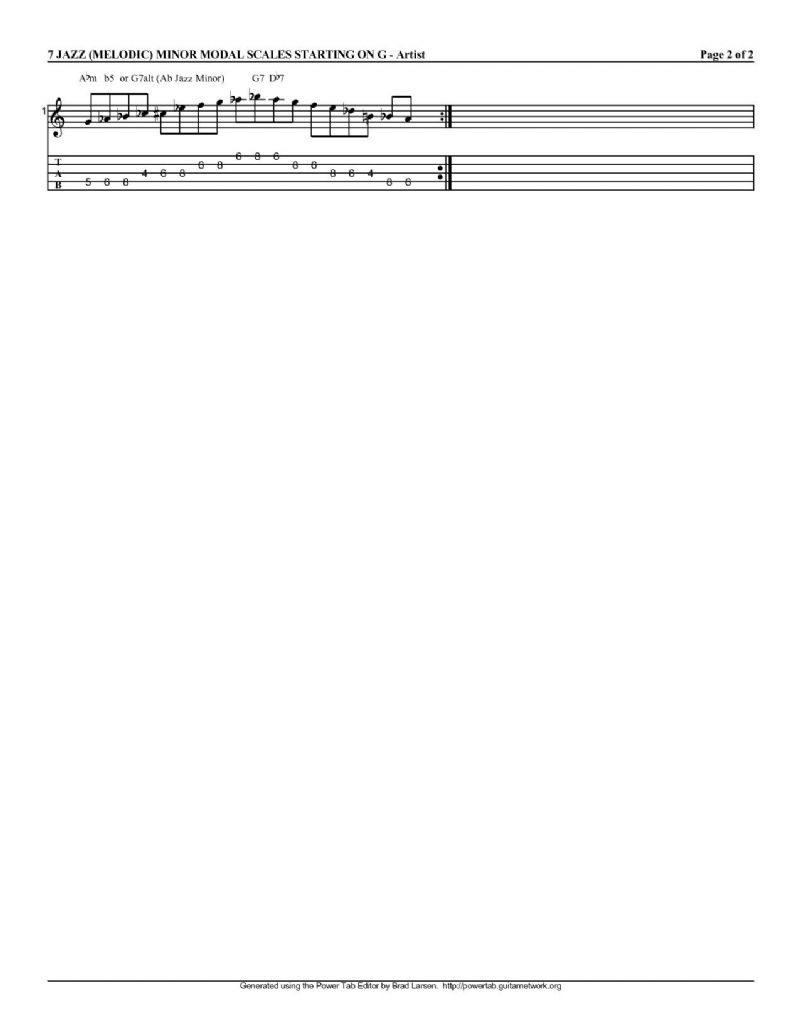 Single String Melodic Minor Scale practice technique - Discussion