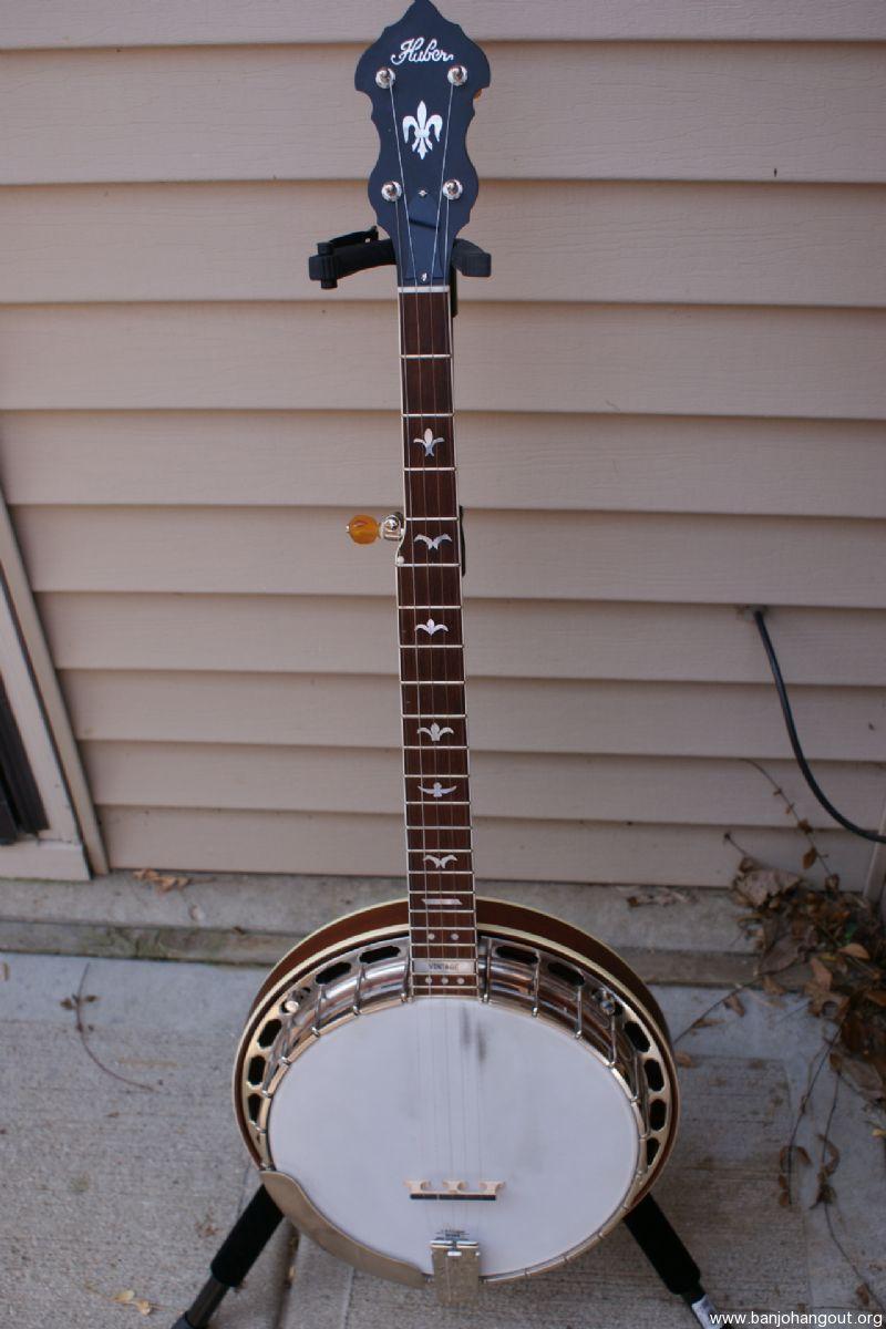 huber vintage banjo final reduction used banjo for sale at. Black Bedroom Furniture Sets. Home Design Ideas