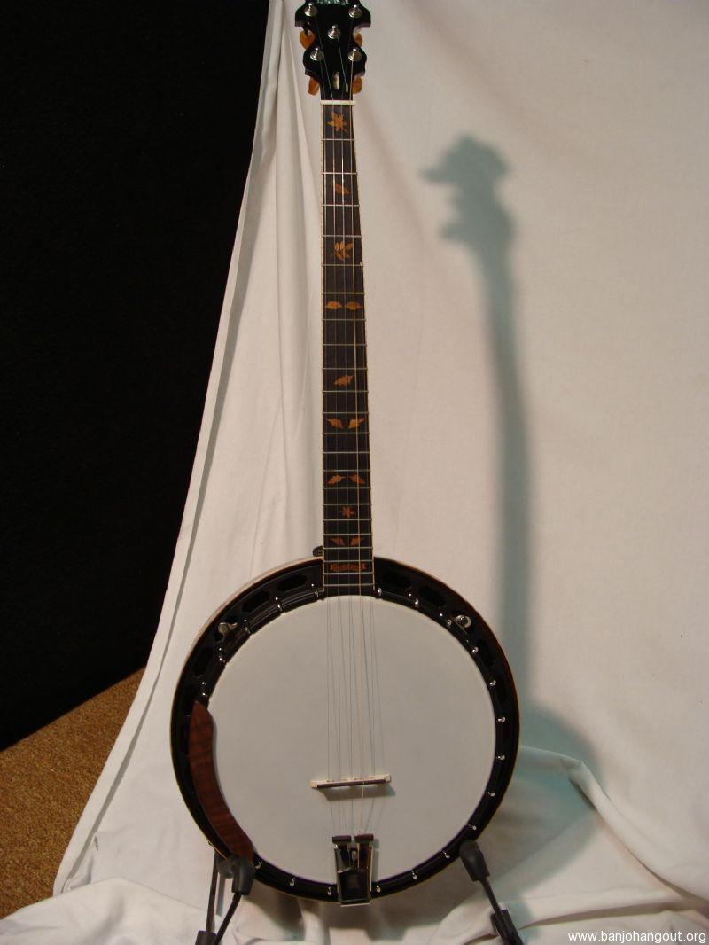 Left Handed Custom Bishline Walnut Used Banjo For Sale