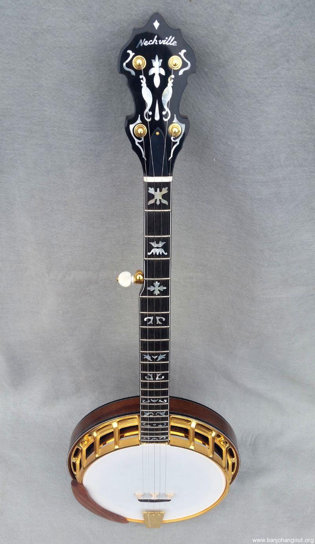 nechville maple gold plated vintage demo used banjo for sale at. Black Bedroom Furniture Sets. Home Design Ideas