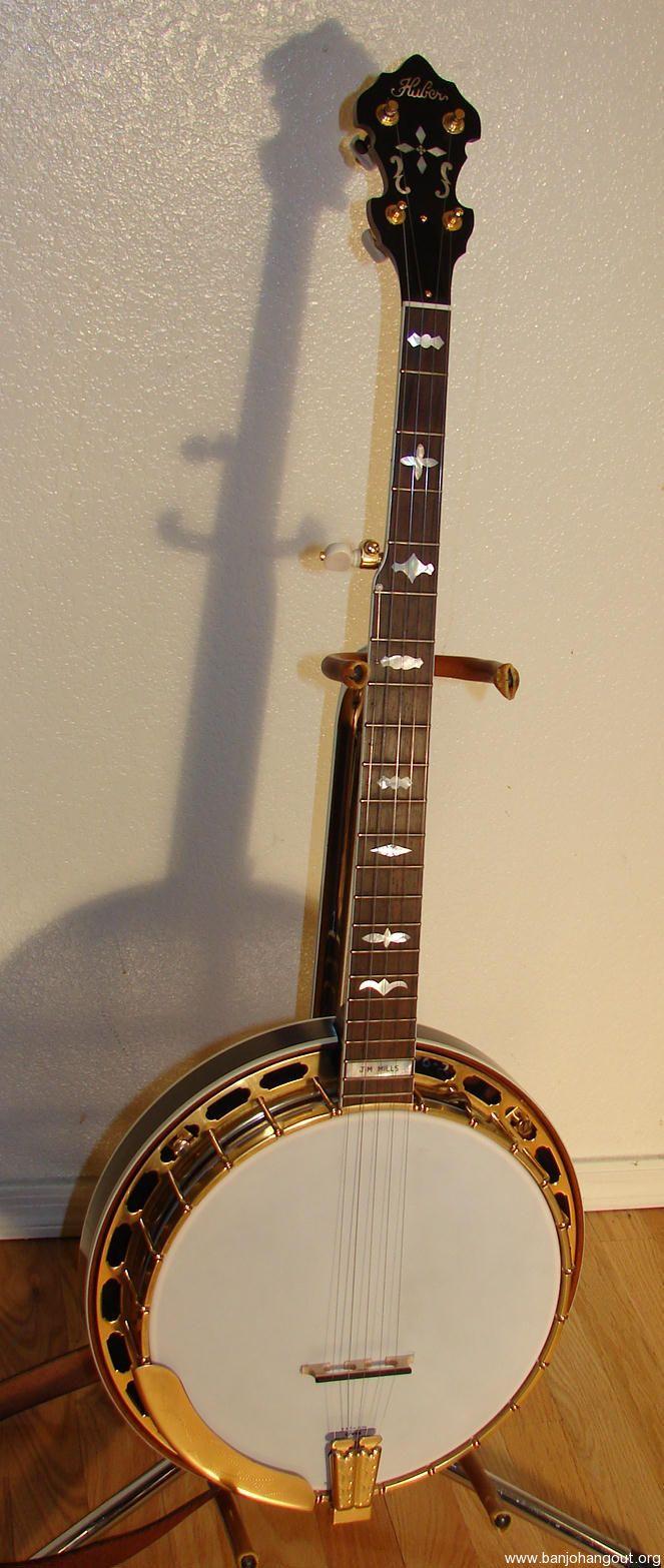 huber 2006 jim mills vintage gold banjo for sale sold used banjo for sale at. Black Bedroom Furniture Sets. Home Design Ideas
