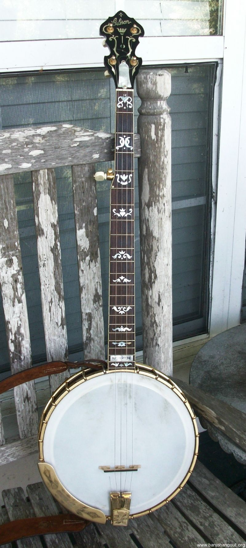 Gibson rb 5 custom openback reduced price used banjo for for Rb storage