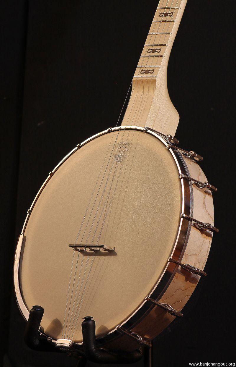 deering goodtime americana 12 openback no knot scoop gig bag used banjo for sale at. Black Bedroom Furniture Sets. Home Design Ideas