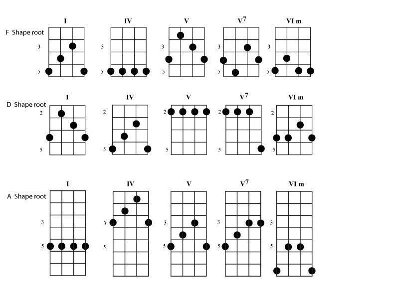 banjo chord shapes - yosh u0026 39 s photos