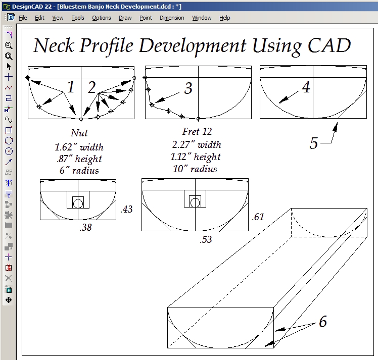 Guitar Neck Profile Template Luthier Tools Patterns