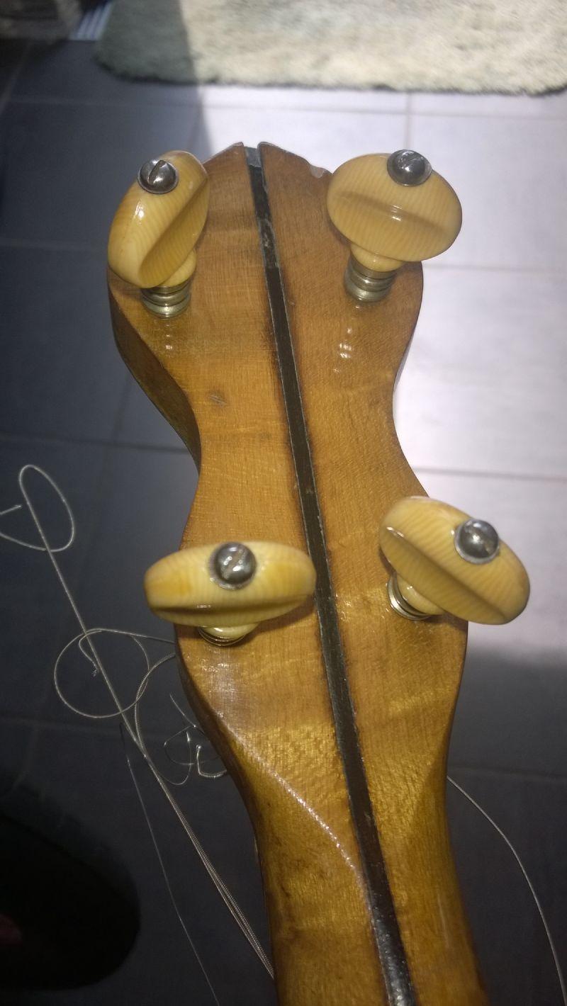 Friction banjo tuners
