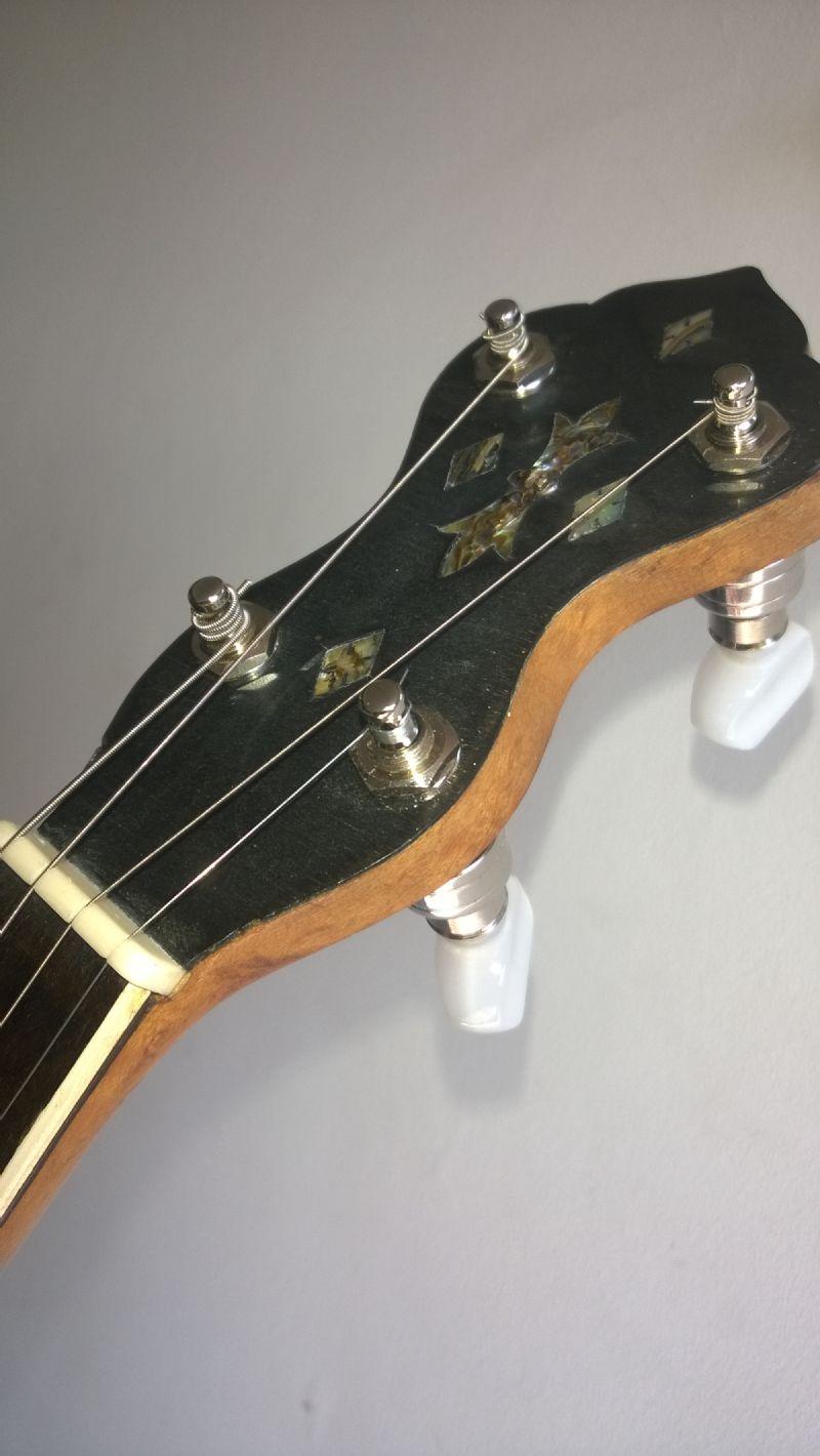 ABM banjo tuners fitted to Slingerland tenor banjo