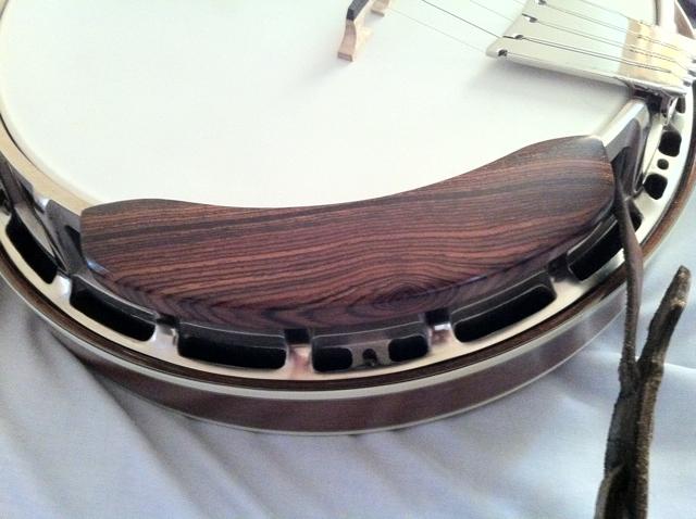 how to make a wooden banjo armrest