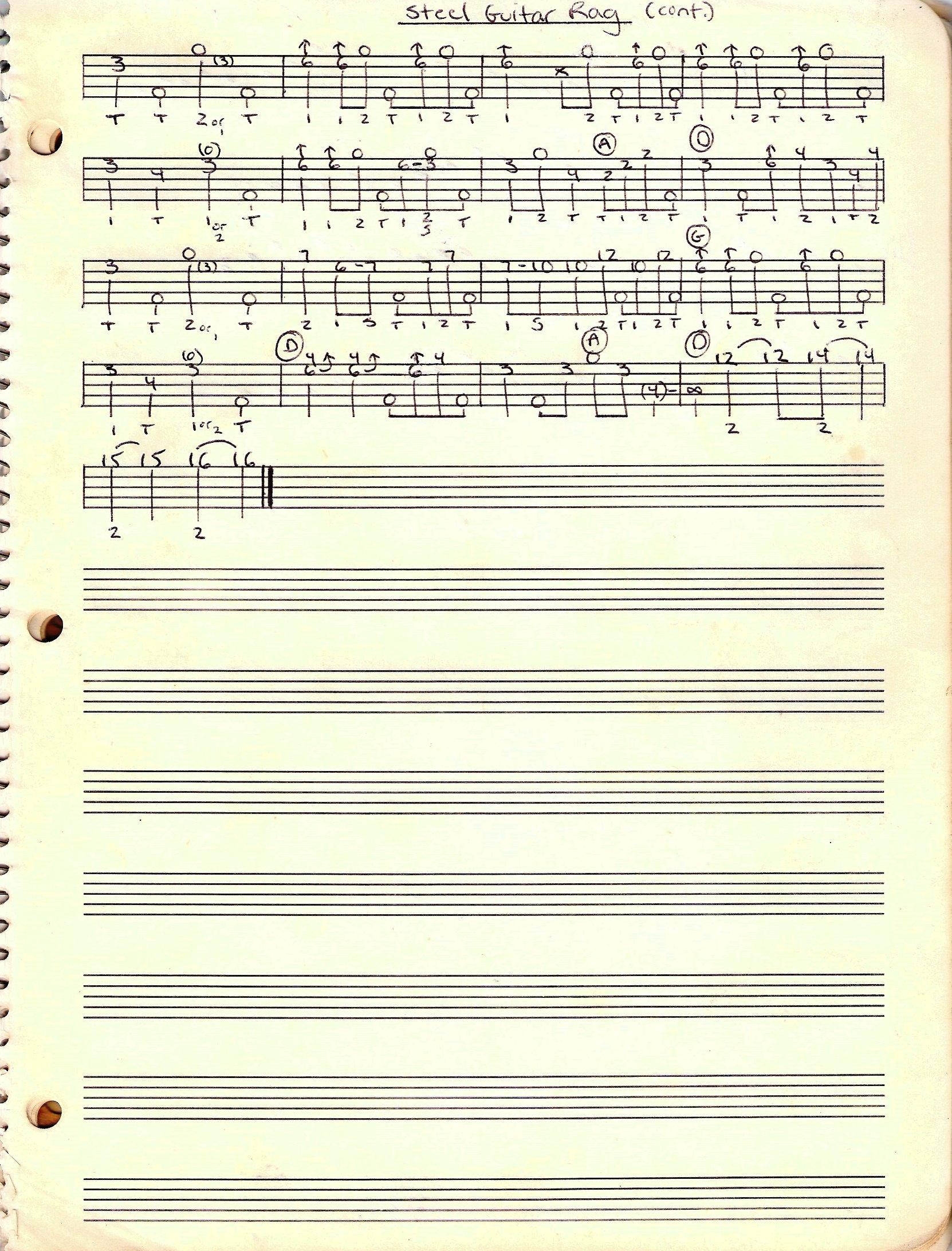 Browse Tabs By Keyword: steel guitar rag (scruggs-1953) - Banjo Hangout