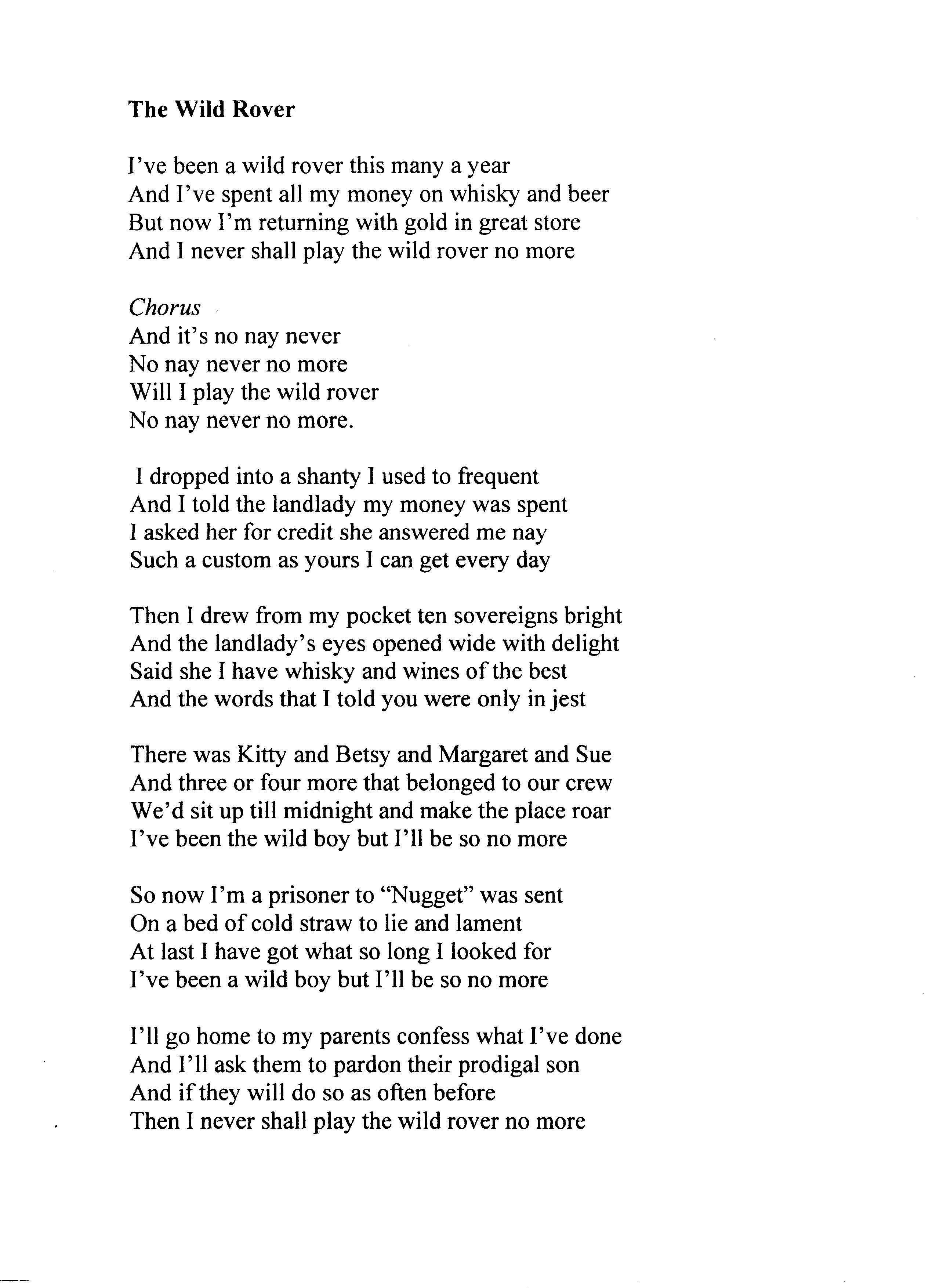 wild horses guitar tab pdf