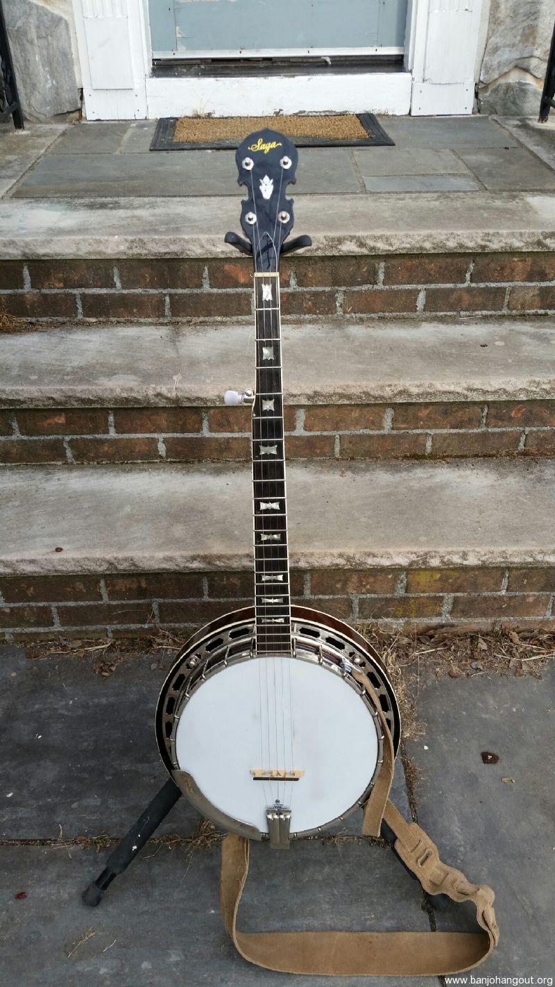 vintage saga banjo used banjo for sale at. Black Bedroom Furniture Sets. Home Design Ideas