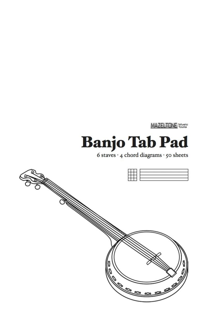 Tablature Writing Pads - Banjo, Guitar, 4-String Instruments - Banjo