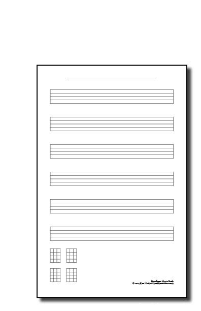 Guitar guitar tablature writer : Tablature Writing Pads - Banjo, Guitar, 4-String Instruments ...