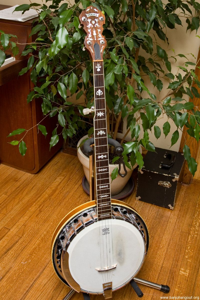 fender artist 5 string banjo with archtop tonering used banjo for sale at. Black Bedroom Furniture Sets. Home Design Ideas