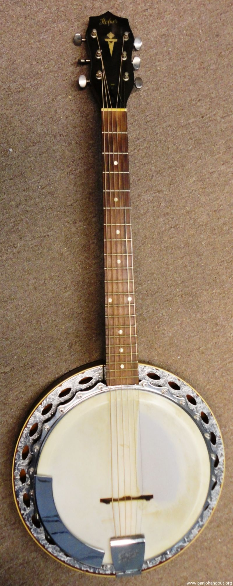 vintage hofner 6 string banjo used banjo for sale at. Black Bedroom Furniture Sets. Home Design Ideas