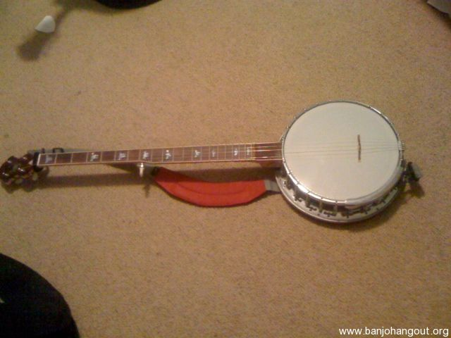 bacon day long neck banjo from new and old parts used banjo for sale at. Black Bedroom Furniture Sets. Home Design Ideas