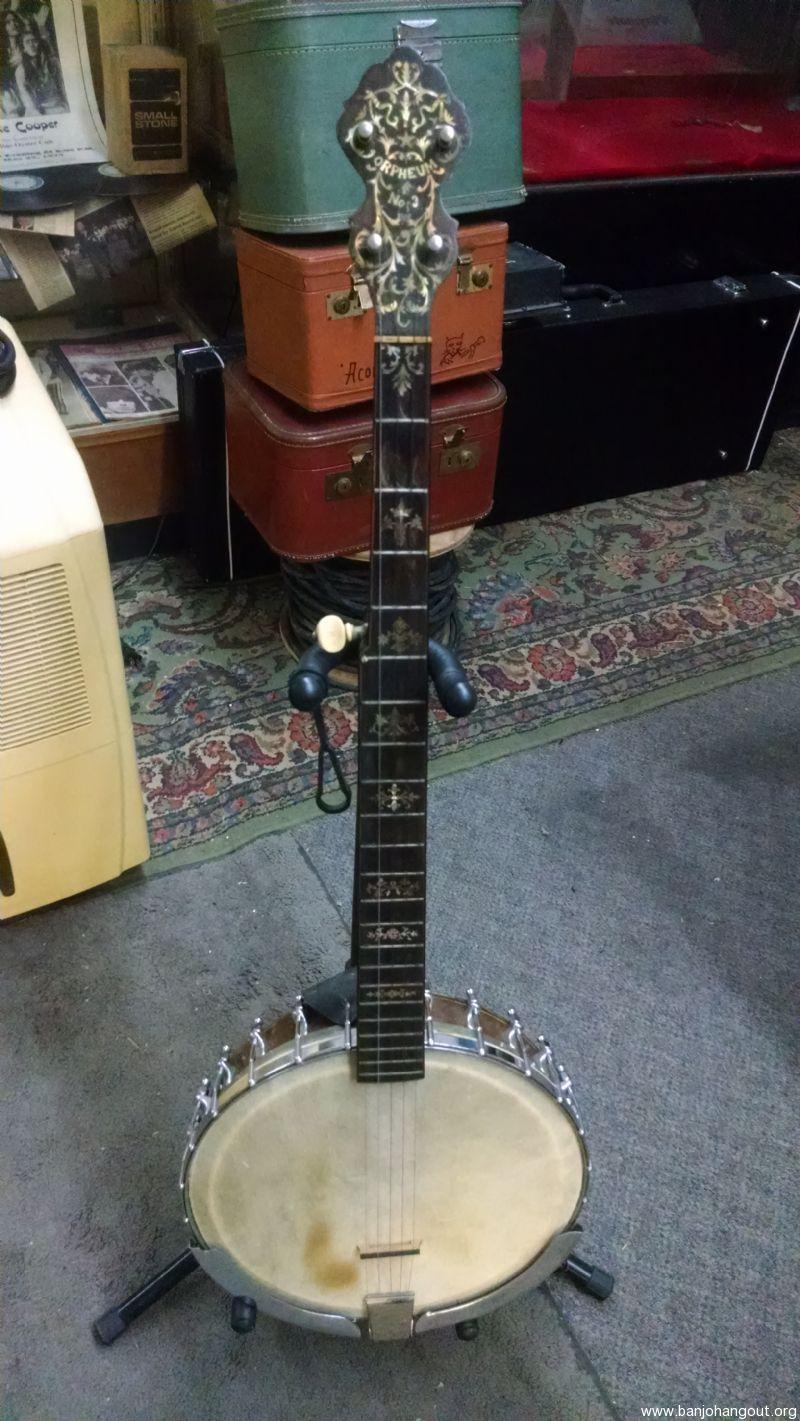 vintage orpheum 3 5 string banjo used banjo for sale at. Black Bedroom Furniture Sets. Home Design Ideas
