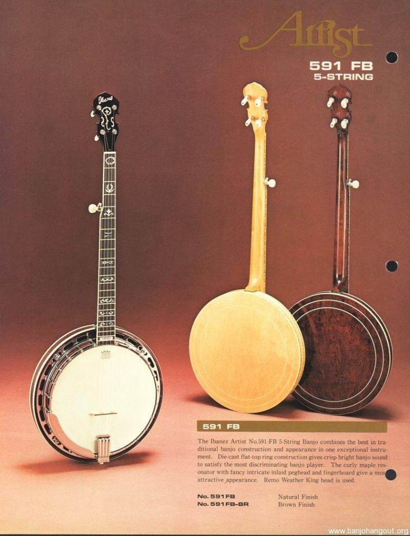 For Sale - 1976 Ibanez Artist 5-String Banjo - SOLD