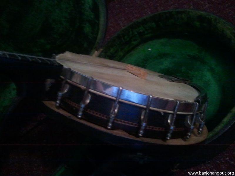 vintage oscar schmidt maybell banjo with grover patent presto tailpiece used banjo for sale. Black Bedroom Furniture Sets. Home Design Ideas
