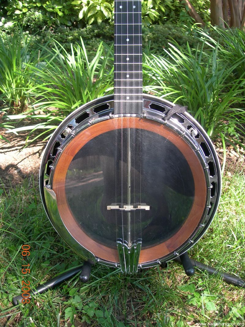 Carbon Fiber Neck Wooden Tone Ring Used Banjo For Sale