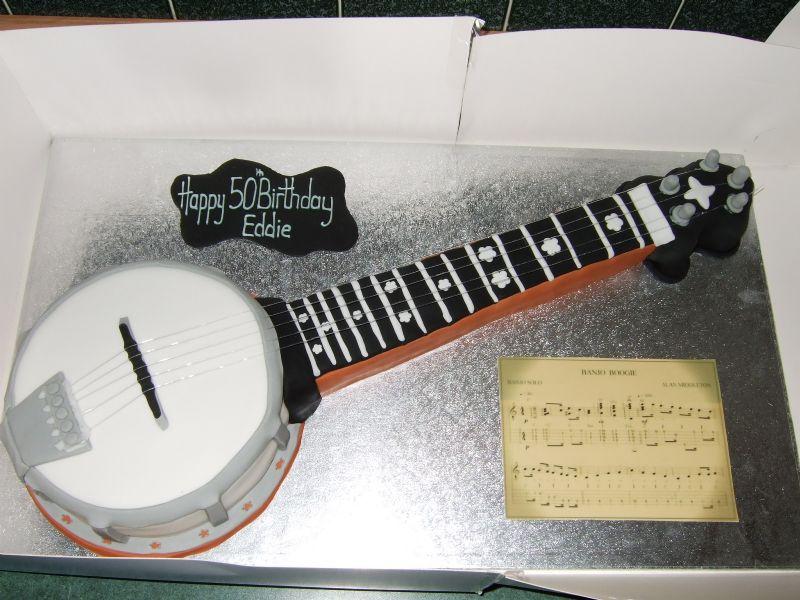 Banjo Birthday Cake