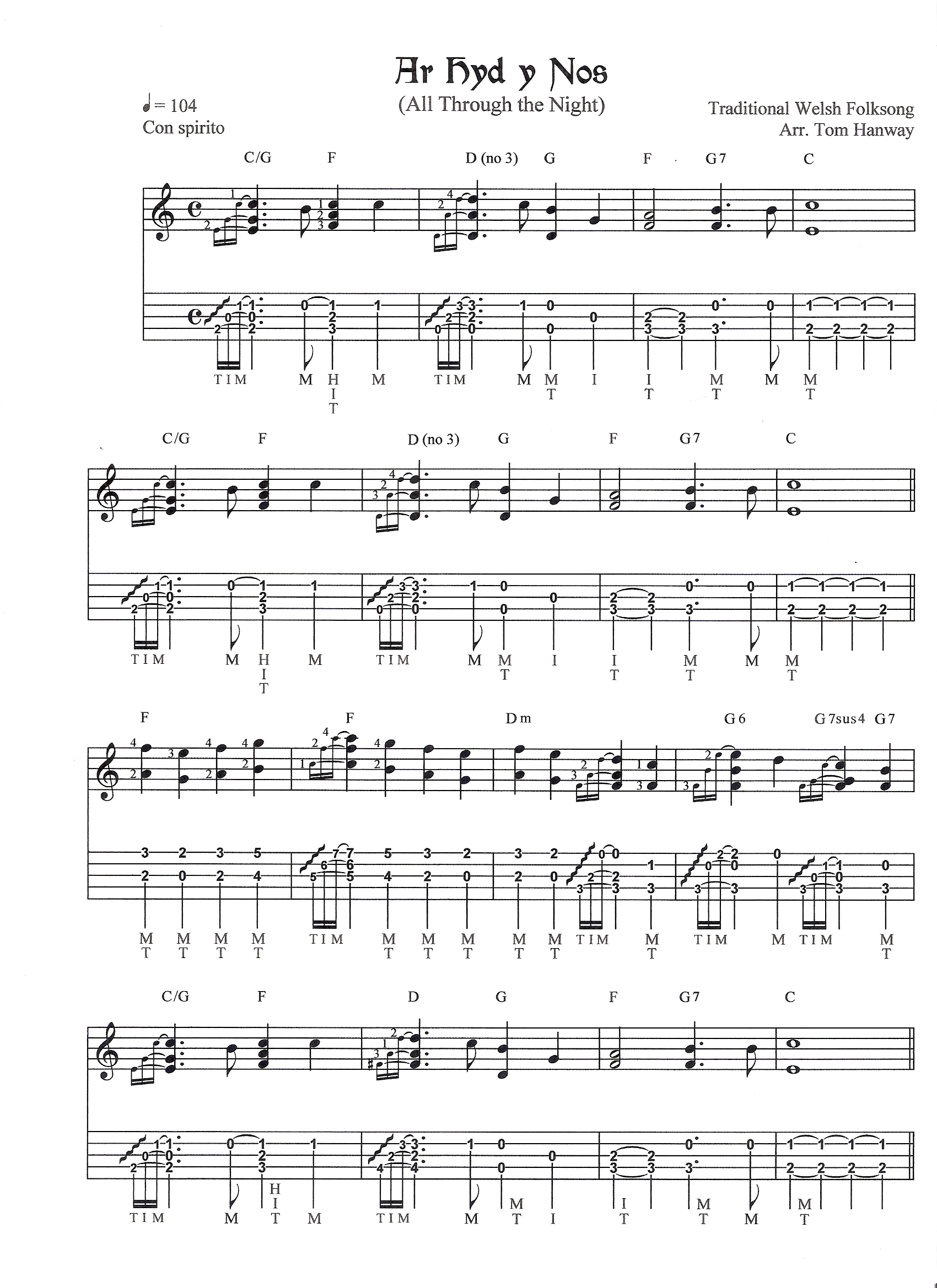 all through the night (ar hyd y nos) 4 variations tab - details and ratings  - banjo hangout  banjo hangout