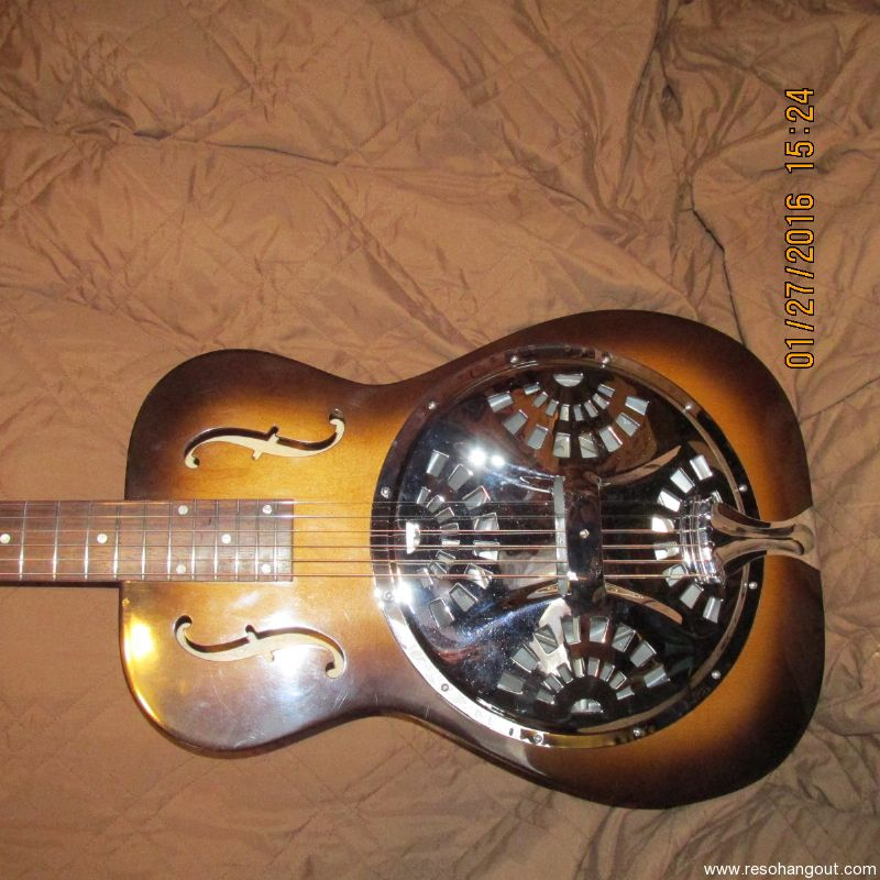 Dobro F60 Round Neck 1993 USA Made By DOBRO Here Is An Exceptional Original OMISetup Great For Finger Style And Slide